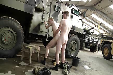 Military garage sex