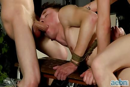Tied boy fucked hard