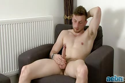 Straight Sam Strokes His Meat