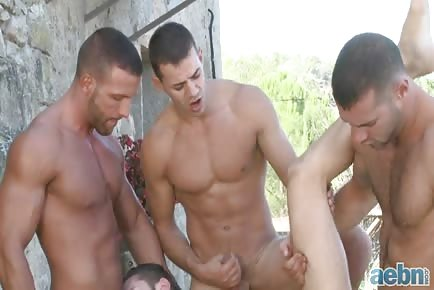 Muscle stud hot orgy