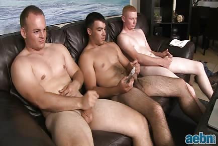 Horny army guys jerk off