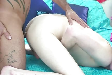 Hairy Bareback Daddy On Boy