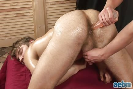 Oily cock and ass massage HD