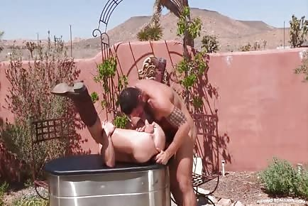 HOT Cowboys Johnny V & Letterio Amadeo Fucking Outdoors