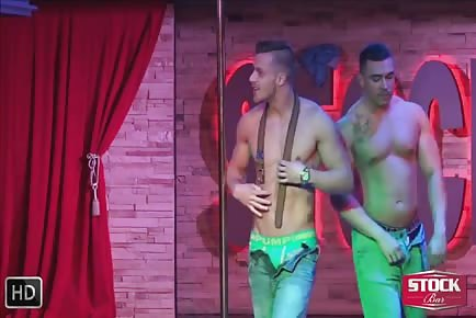 Stockbar - Best Male Strippers in North America - Mike & Scott in a Shower Video