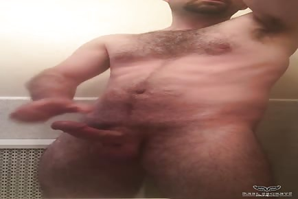 Bear shower cumshot