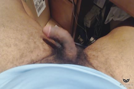 Hairy cock twitching