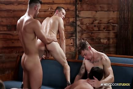 The reunion gathering orgy full gay porn video