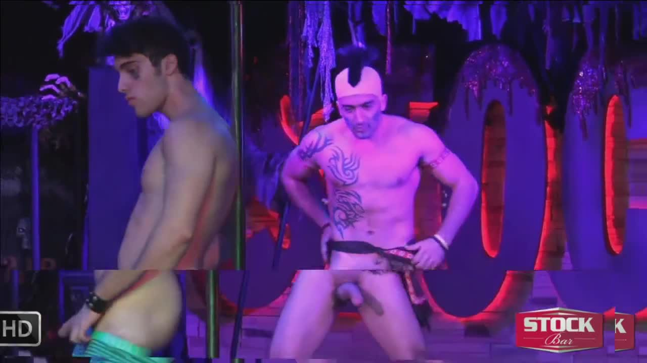 Gay Male Stripper Show With Sucking Guys