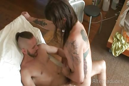 Long Haired Fucker Riding Cock