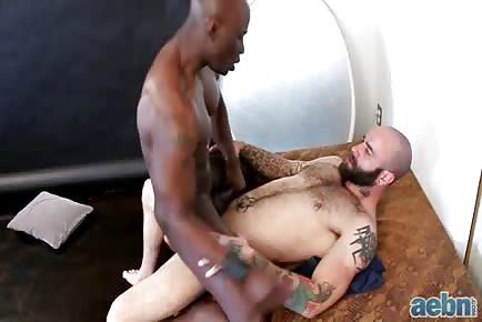 Muscular interracial rough ass pounding