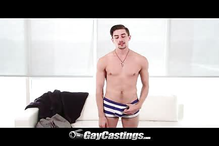 Slim Young Guy Takes Dick In Ass During Casting