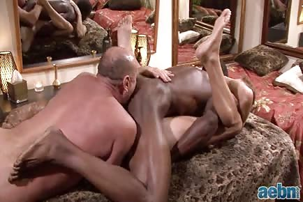 Old Man Interracial Threesome With Jacked Black Guy