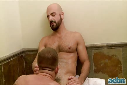 Hot Older Man Seducing Young Guy In Bath
