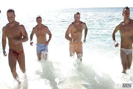 Hunky Men At Sea