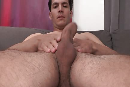 Sexy Dark Hair Felix Playing with His Nice Thick Cock