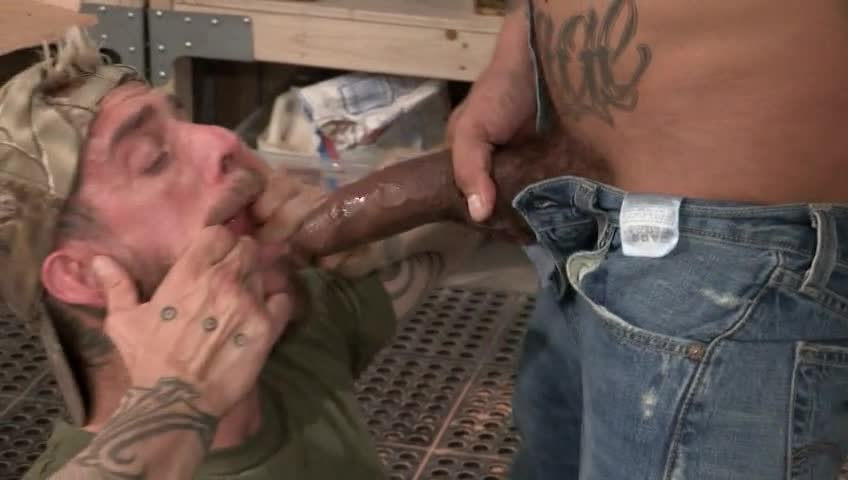The employees deep throat cock