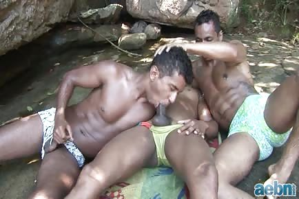 Juicy interracial ass crack getting pounded raw outdoors
