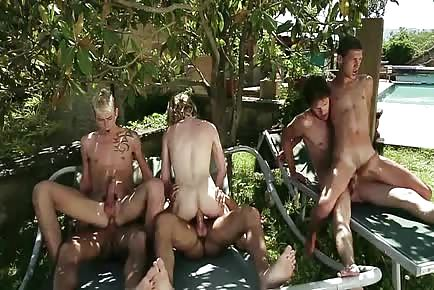 Young Boys Make A Sex Pyramid During Outdoor Orgy