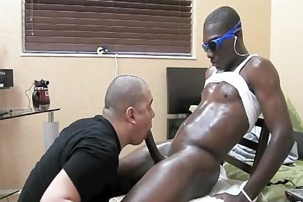 Straight black guy gets his bbc sucked off by gay dude