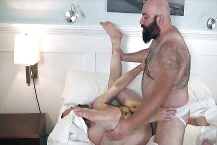 Huge furry bears get horny in Provincetown and fuck raw