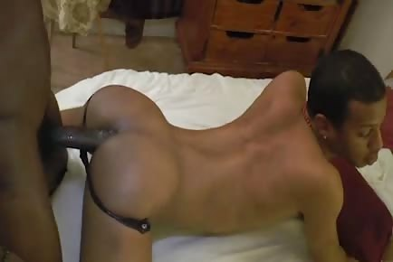 Freaky masked black guy pounded raw by monster cock