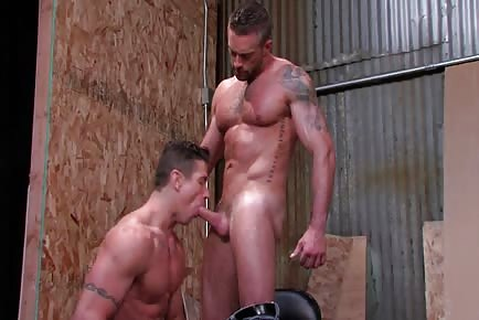 Trenton Ducati And Jake Genesis fuck each other's soft mouths and muscle asses