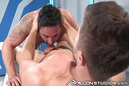 Sloppy deepthroat blowjob Fabio Acconi and Bruno Bernal
