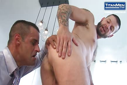 David Benjamin and Tex Davidson cock slap domination