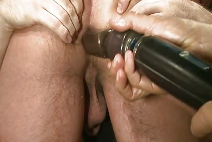 from Landyn gay gets dildo forced up asshole