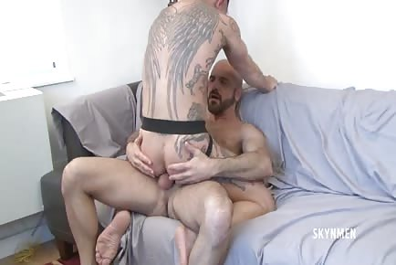 Angel wings Chet Daniel rides Adam Russo's daddy cock