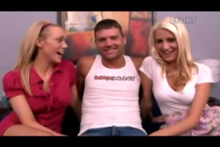Gay guy attempts straight porn with two girls