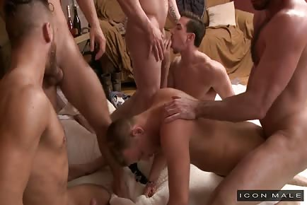 Hot Brandon Wilde's First Gangbang