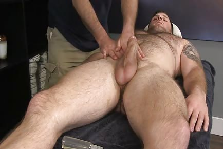 Straight bear happy ending massage