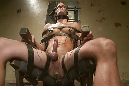 Hot guy getting balls and ass hole tortured with butt plug