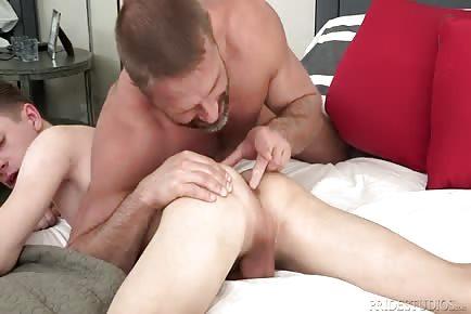 Dirk Caber daddy seduction of twink Darren Kiss