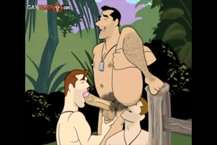 Gay cartoon world war 2 military full
