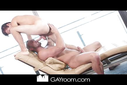 Cute and willing twink rides a big dick daddy.