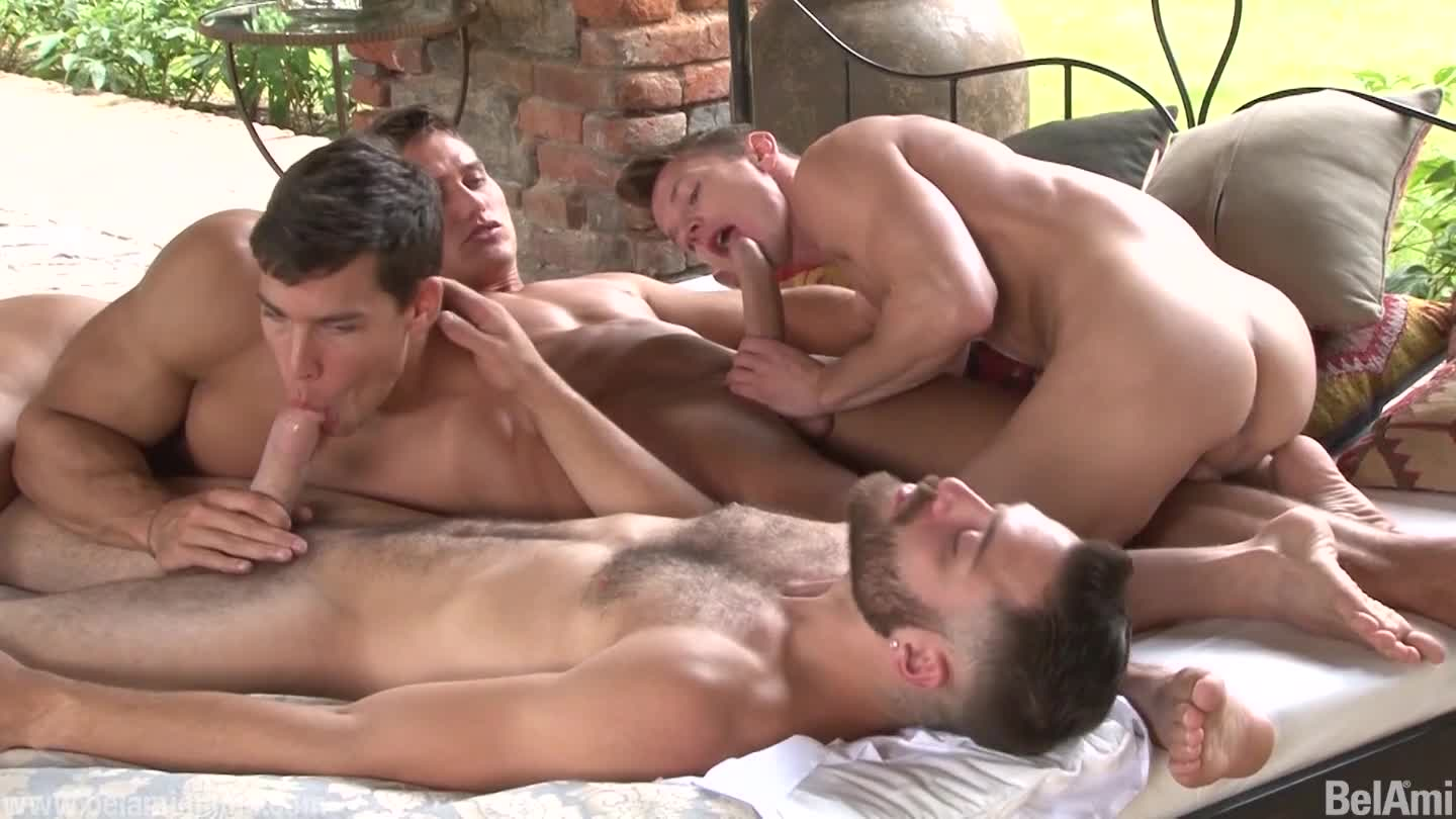 3 hunks gangbang rough dp fuck hot blonde 9