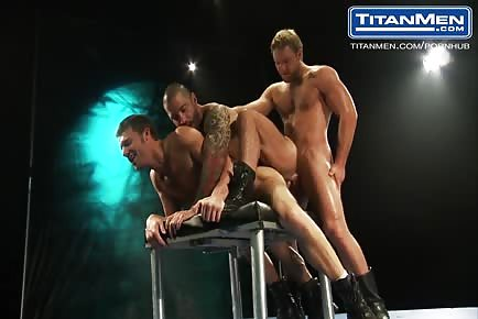 Hot beefy men threesome Junior Stellano, Steven Daigle & Tom Wolfe