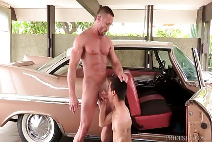 Young Car Mechanic Seduced By Hunk Daddy
