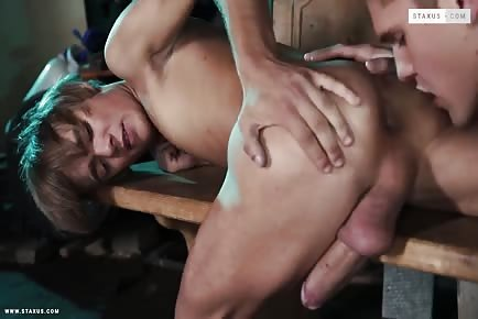 Gorgeous big dick boys rimming and bareback anal