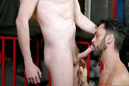Pale blond dude fucks scruffy beardy man