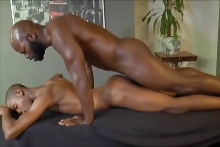 Cutler X destroys black twink's asshole with his monster cock