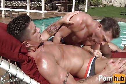 Trenton Ducati fucking sexy muscular stud by pool