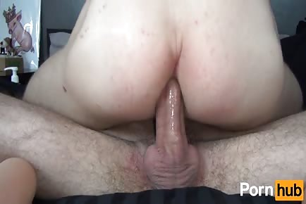Bouncing ass on a big raw cock