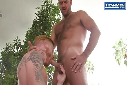 Redhead Bennett Anthony bottoms for hairy daddy Anthony London