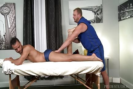 Daddy Masseur Josh Peters Licking Young Swimmer's Ass And Taking His Cock