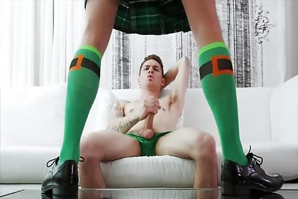 Saint Patrick's day gay anal sex with leprechaun role play