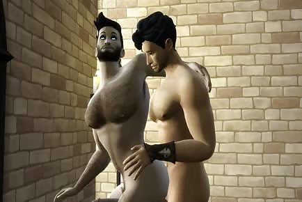 Gay Sims 3D cartoon hardcore bareback sex